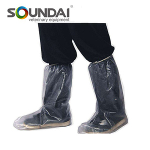Easy Use Transparent Blue PE Rain Shoe Disposable Boot Cover