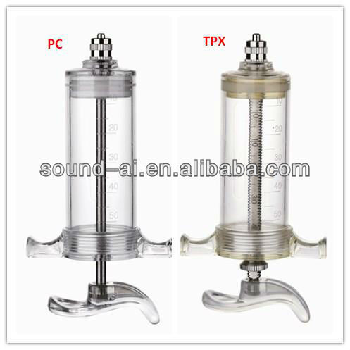 Transparent Barrel Durable 10ml Veterinary Plastic Steel Veterinary Animal Syringe With Luer Lock Adaptor