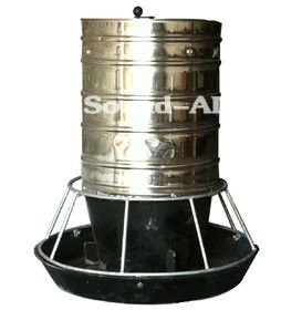 High Quality 100kg Stainless Steel Poultry Bucket feeder